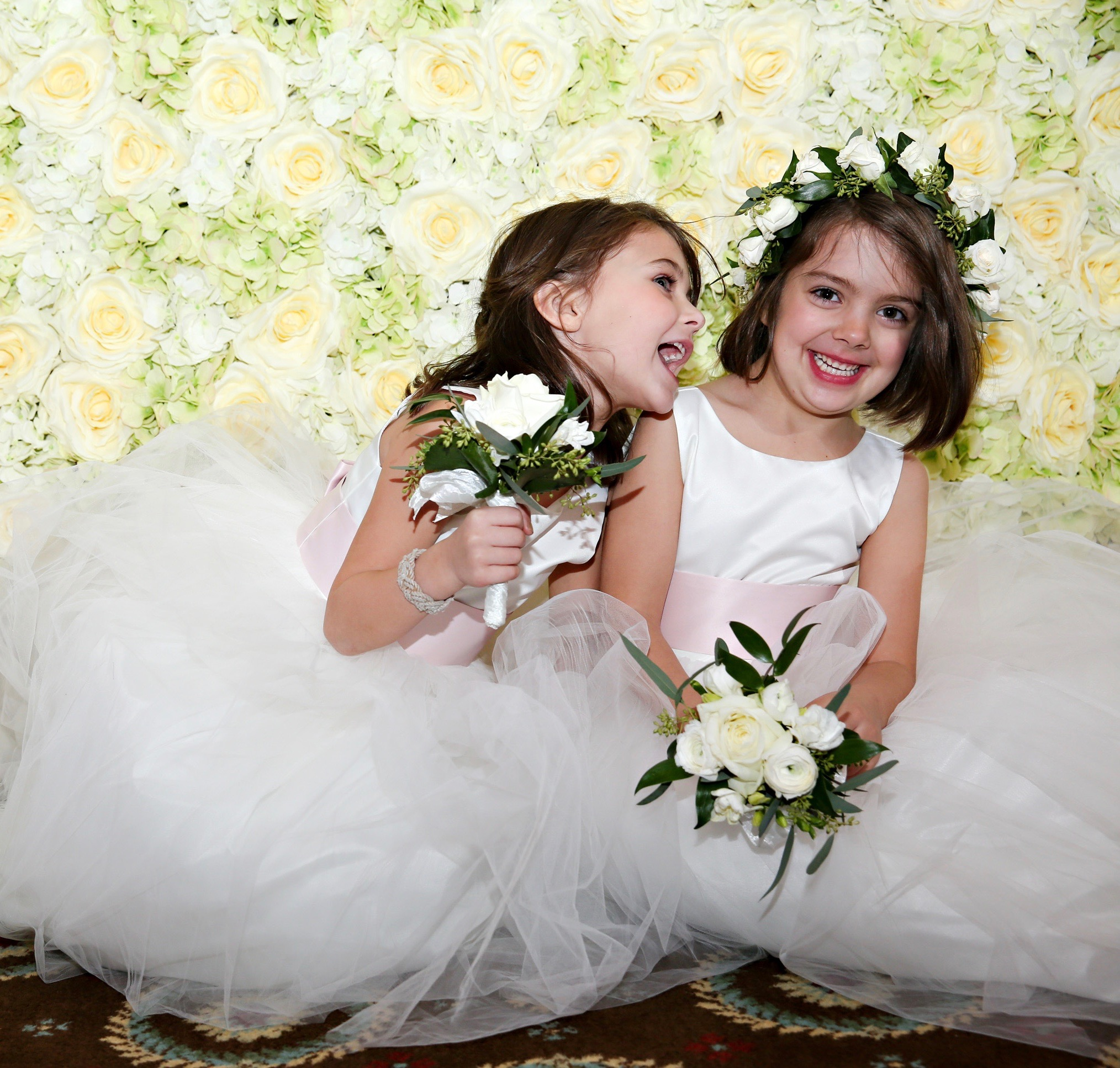 My Darling Daughter And Niece Were Two Of Flower Girls Carrying A Little Posy Each With Crown Here They Are Sitting In Front